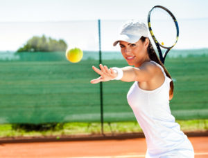 A dentist in Allentown suggest wearing a mouthguard while playing tennis.